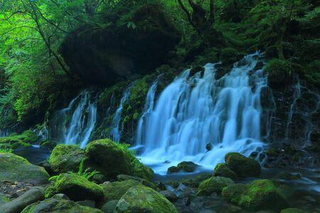 Akita Prefecture of nikaho City Summer falls