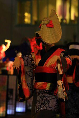 Ugo Town, Akita Prefecture Night dance Stockfoto