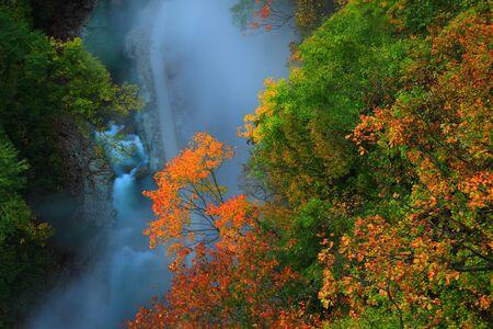 Oyasu-Schlucht im Herbst Standard-Bild
