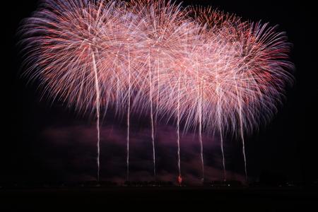 Akita Omagari Fireworks Competition Stockfoto - 133987039