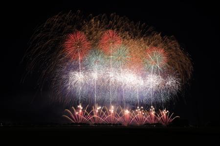 Akita Omagari Fireworks Competition Stockfoto - 133987043