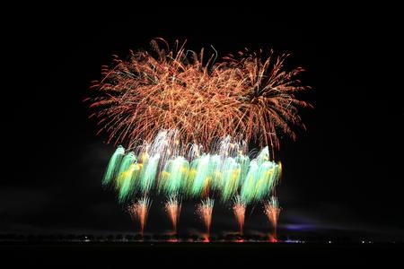 Akita Omagari Fireworks Competition Stockfoto - 133987051