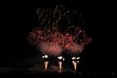 Akita Omagari Fireworks Competition Stockfoto - 133987061