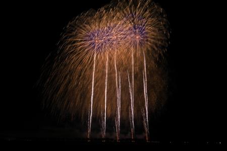 Akita Omagari Fireworks Competition Stockfoto - 133987066