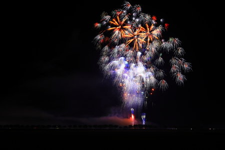 Akita Omagari Fireworks Competition Stockfoto - 133987073