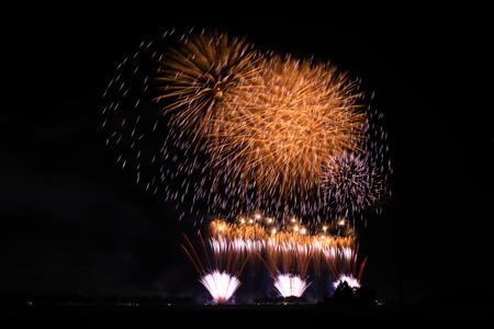 Akita Omagari Fireworks Competition Stockfoto - 133987077