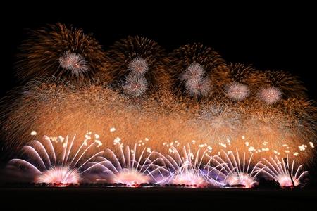 Akita Omagari Fireworks Competition Stockfoto - 133987118