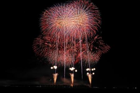 Akita Omagari Fireworks Competition Stockfoto - 133987127
