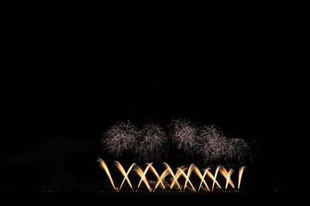 Akita Omagari Fireworks Competition Stockfoto - 134564421