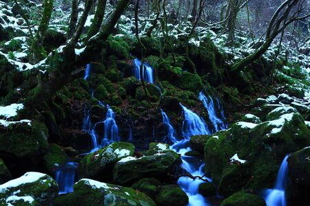 Winter from subsoil water falls Banque d'images