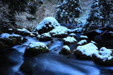 Akita Prefecture Winter Stream