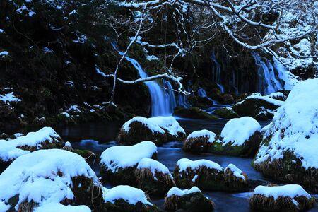 Akita Winter Falls Banque d'images