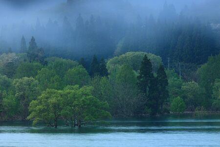 Nishiki Autumn Lake in spring