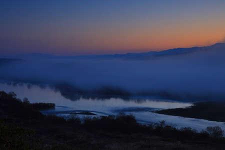 Dawn of Kita kamikawa, Hiraizumi Town, Iwate Prefecture