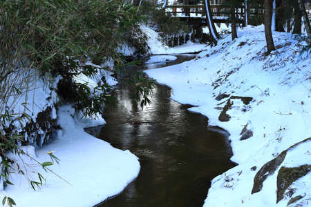 Tono City, Iwate Prefecture Winter River
