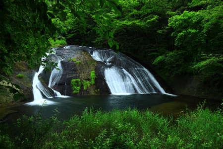 Summer Mountain Stream, Hanamaki City, Iwate Prefecture