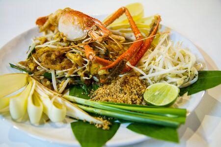 thai style: Pad Thai with fried river shrimp,Thai style noodle