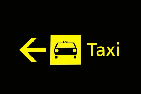 taxi sign: Airport signs - taxi