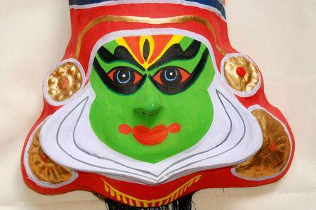 kathakali: Kathakali mask Stock Photo