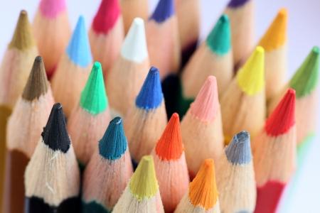 colour pencils: Colourful color pencils macro background Stock Photo