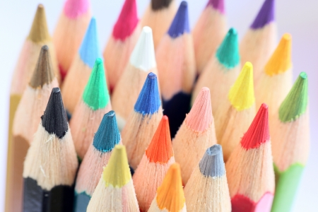 Colourful color pencils macro background photo