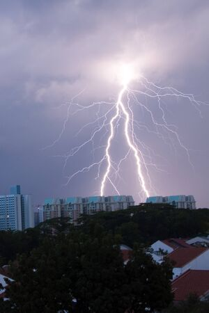 dangerouse: lighting strike on the housing area