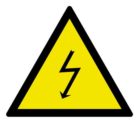 Warning sign high voltage, vector illustration. illustration