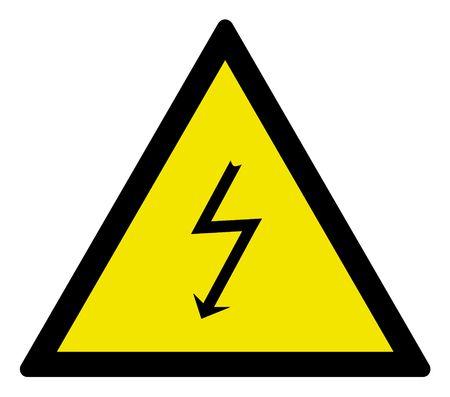 Warning sign high voltage, vector illustration. Stock Illustration - 4625047