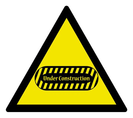 Warning triangle -  sign under construction, vector illustration illustration