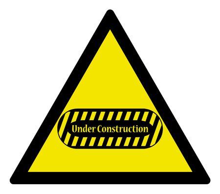 Warning triangle -  sign under construction, vector illustration illustration
