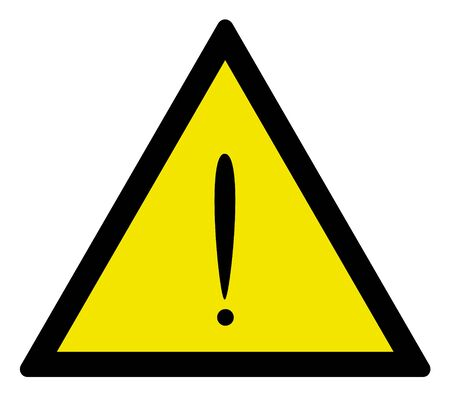 worksite: Exclamation sign of warning, vector illustration.