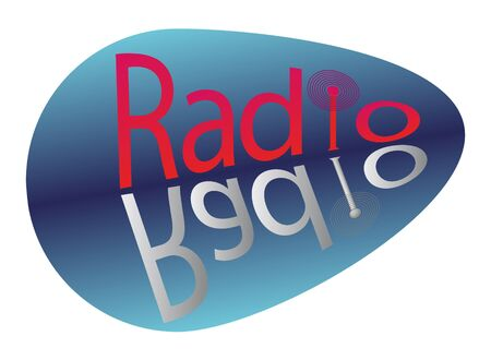 Sign for radio station or frequency in vector photo