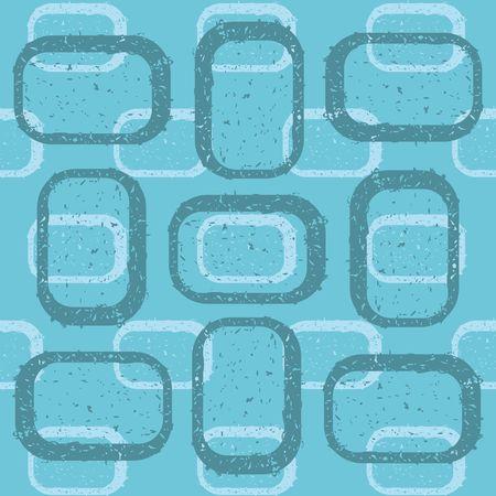Blue grunge rectangles on blue background - illustration. illustration