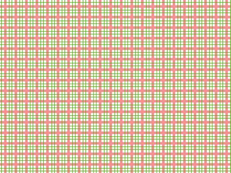 Tablecloth pattern, red and green lines - illustration. illustration