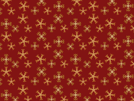 Background of falling snowflakes on red background Stock Vector - 6309161