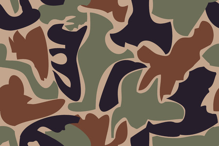 Military seamless pattern  - vector illustration. You can use it to fill your own background. Vector