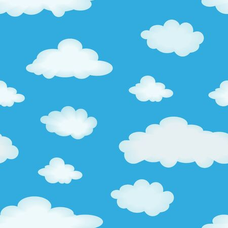 Abstract seamless pattern with clouds for background - vector illustration. You can use it to fill your own background. Stock Vector - 6762148