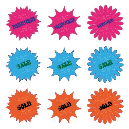 price tags isolated on a white background. Easy editable.  Vector