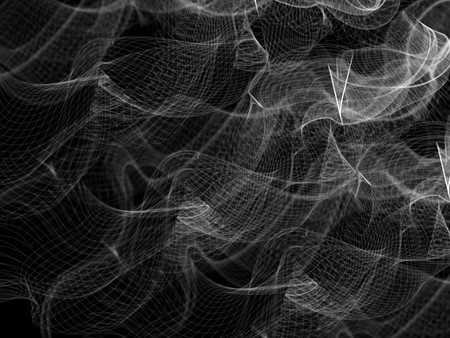 smoked: Abstract smoked nets, illustration on black background.