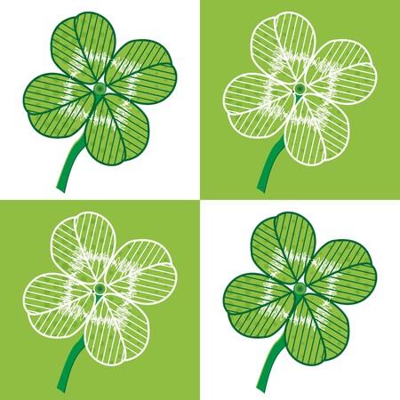 spachteln: Ein Gl�ck vier Blatt nahtlose - Abbildung. Sie k�nnen es verwenden, um Ihren eigenen Hintergrund zu f�llen.  Illustration