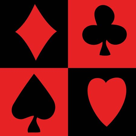 ace of clubs: Seamless on card symbol theme -  illustration. You can use it to fill your own background.