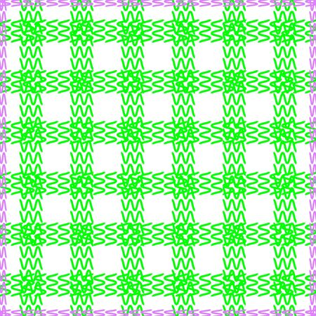 Tablecloth seamless , green and purple color -  illustration. You can use it to fill your own background. Vector