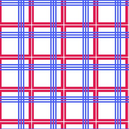 Tablecloth seamless , red and blue lines - illustration. You can use it to fill your own background. Vector