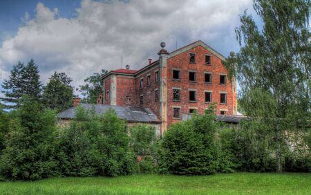Old devastated hospital with park. HDR image. Stock Photo - 7390644
