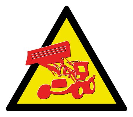 Warning triangle -  sign under construction Vector