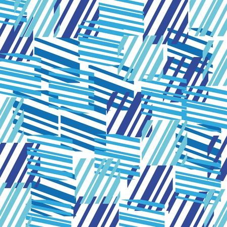 moderne: Contexte abstrait de rectangles de couleurs bleus  Illustration