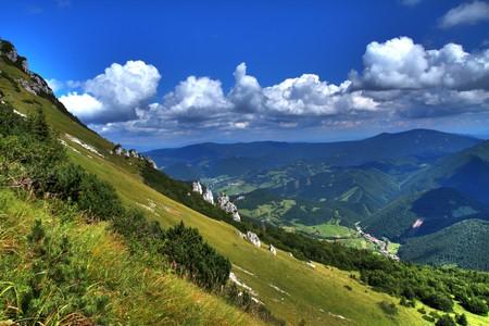Slovak mountain - Mala Fatra with hill Velky Rozsutec. Stock Photo