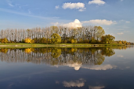 Nature in autumn with reflection in lake. Stock Photo - 8183444