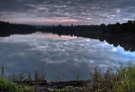Lake before sunrise with dramatic sky. Stock Photo - 8830735