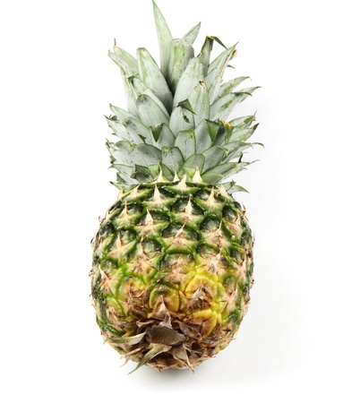 Sweet pineapple on white background.
